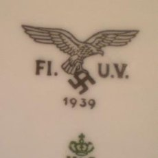 Militaria - Plato alemán 1939. II G.M. Con emblema de la Luftwaffe. 100% original. Alemania - 51787709