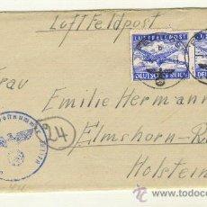 Militaria: CARTA 3/2/1944 CORREO AEREO BONITOS SELLOS, CON HOJA ESCRITA EN EL INTERIOR. Lote 22318743