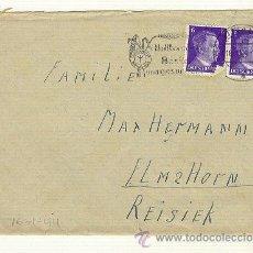 Militaria: CARTA 16/1/1944 SELLOS BUSTO HITLER, CON HOJA ESCRITA EN EL INTERIOR. Lote 22318744