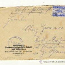 Militaria: CARTA 30/8/1942 CORREO AEREO SELLO PUESTO AL REVES, CON HOJA ESCRITA EN EL INTERIOR. Lote 22318745