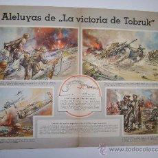 Militaria: ALELUYAS DE LA VICTORIA DE TOBRUK. Lote 17212015