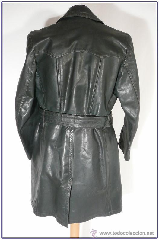 Abrigo chaqueta cuero corta uniforme aleman 2 GM WW2 para recreaciones  historicas y vestir. 050936af5612