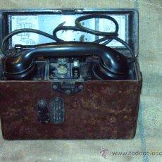 Militaria: TELÉFONO DE CAMPAÑA, AÑO 1939, ORIGINAL ALEMÁN 2 GM. Lote 24279919