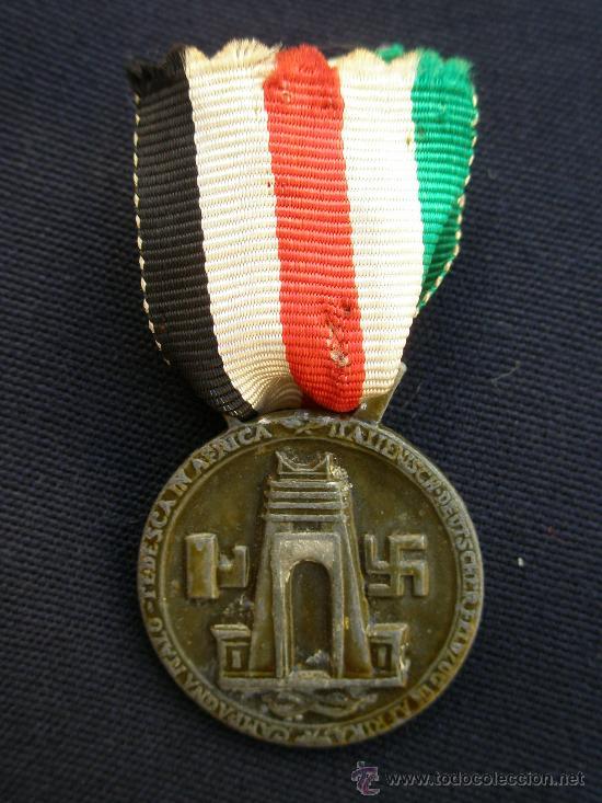MEDALLA ITALO-GERMANA DE LA CAMPAÑA DE ÁFRICA 1941. (Militar - II Guerra Mundial)