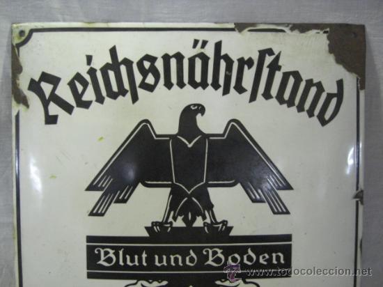 Militaria: Alemania. II guerra mundial. Placa de Reichsnährftan. Blut un boden. Orstbauernführer. - Foto 2 - 26626758