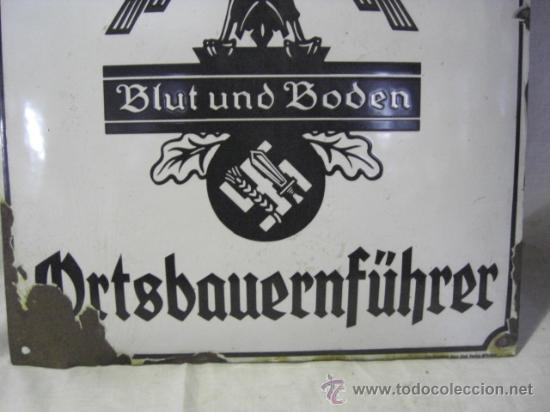 Militaria: Alemania. II guerra mundial. Placa de Reichsnährftan. Blut un boden. Orstbauernführer. - Foto 3 - 26626758