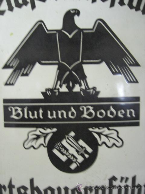 Militaria: Alemania. II guerra mundial. Placa de Reichsnährftan. Blut un boden. Orstbauernführer. - Foto 4 - 26626758