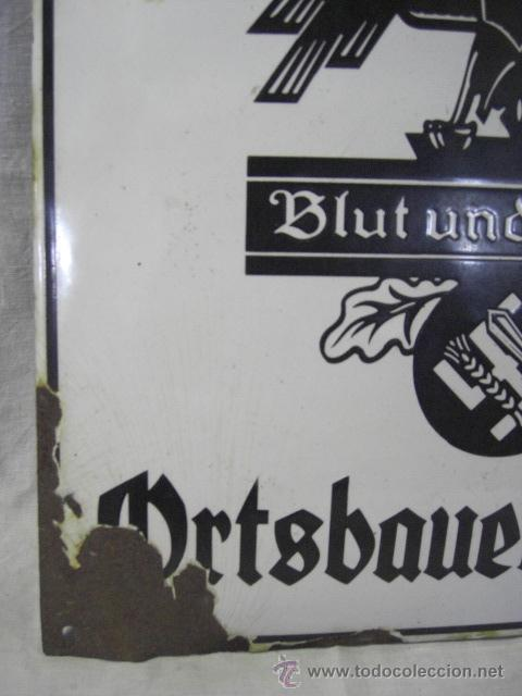 Militaria: Alemania. II guerra mundial. Placa de Reichsnährftan. Blut un boden. Orstbauernführer. - Foto 8 - 26626758