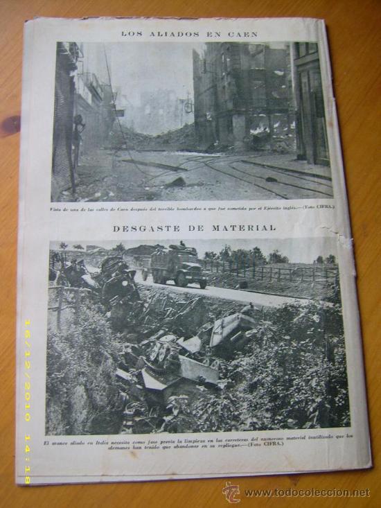 Militaria: Revista Mundo. Número 219. 16 Julio 1944. España. II Guerra Mundial. - Foto 2 - 26855895