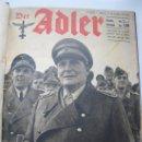 Militaria: DER ADLER - TOMO CON 12 NÚMEROS - DEL 1 AL 12 - EN CASTELLANO - AÑO 1943.. Lote 27836115