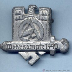 Militaria: INSIGNIA III REICH. SA. WEHRKAMPFE 1940. Lote 32394144
