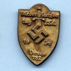 Militaria: INSIGNIA III REICH. NIEDERSACHSEN TAG 1934. Lote 32394390