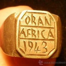 Militaria: ANILLO AFRICA CORPS SEGUNDA GUERRA MUNDIAL 1943. Lote 169834738