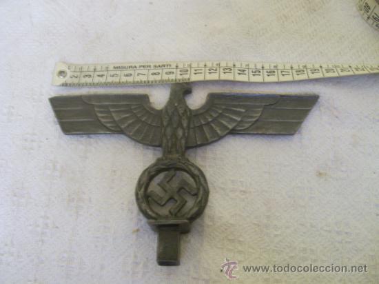 Militaria: Punta o parte de un porta estandartes. Alemania. III Reich. Original. Metálico. - Foto 2 - 34222063