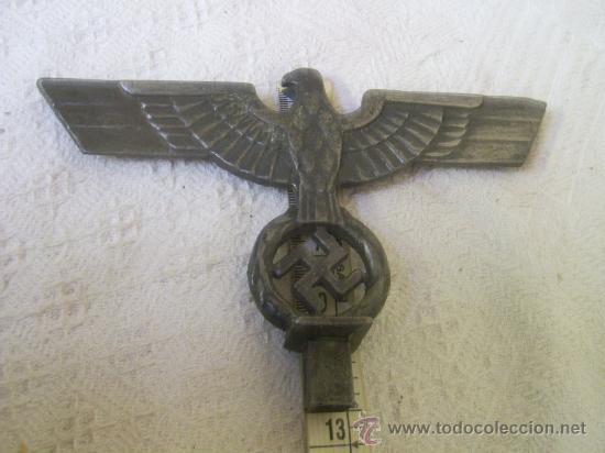 Militaria: Punta o parte de un porta estandartes. Alemania. III Reich. Original. Metálico. - Foto 5 - 34222063