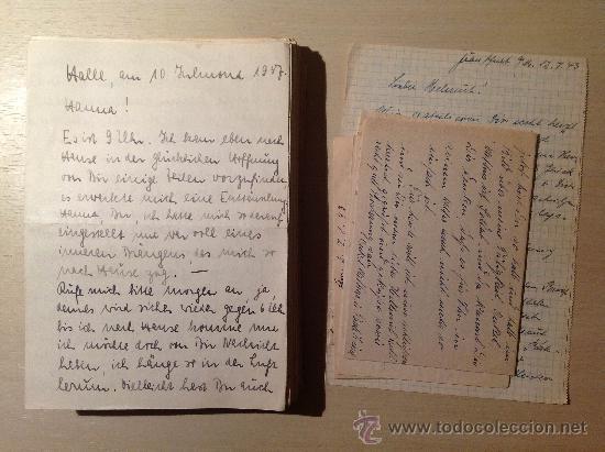 69 CARTAS. CORRESPONDENCIA ENTRE UN SOLDADO ALEMÁN Y SU MUJER ENVIADAS DESDE EL FRENTE RUSO. 1941-45 (Militar - II Guerra Mundial)