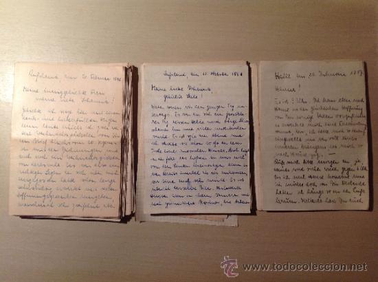 Militaria: 69 cartas. Correspondencia entre un soldado alemán y su mujer enviadas desde el frente ruso. 1941-45 - Foto 2 - 34281597