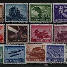 Militaria: 1944 TERCER REICH SERIE COMPLETA HELDENGEDENTAG MI 873-885 XX SELLOS PERFECTOS. Lote 118093511