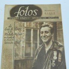 Militaria: FOTOS 245, NOVIEMBRE DE 1941, SEMANARIO GRAFICO, DIVISION AZUL, FOTOS DE MUÑOZ GRANDES, GUARDIA JALI. Lote 37529647