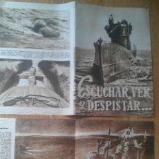 Militaria: 1944. FOLLETO EDITADO EN ALEMANIA AVANCES TECNICOS SOBRE LOS SUBMARINOS ALEMANES II GUERRA MUNDIAL. Lote 223516561