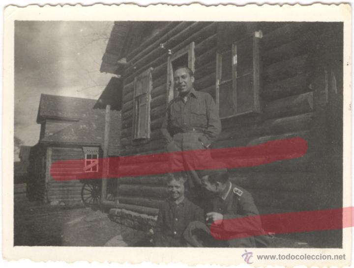 DIVISION AZUL. ANTIGUA FOTOGRAFIA ORIGINAL. TAMAÑO 8.3 X 6 CM (Militar - II Guerra Mundial)
