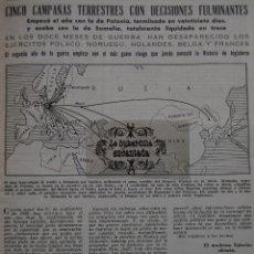 Militaria: ARTICULO 01/09/1940 - UN AÑO DEL INICIO II GUERRA MUNDIAL MAGNIFICA CRONICA DEL AÑO - 18 PAG.. Lote 44735275