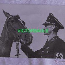 Militaria: LOTE DE FOTOS DEL ALLGEMEINE SS GÜNTER TEMME, FAMOSO JINETE DE LAS SS. TERCER REICH ORIGINAL. Lote 50363443