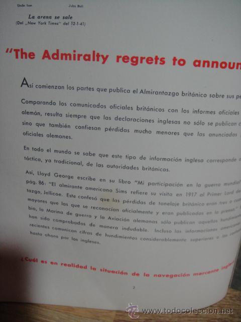 Militaria: el almirantazgo lamenta tener que comunicar... - 2ª guerra mundial año 1942 - Foto 2 - 51623697