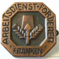 Militaria: INSIGNIA ABZEICHEN ARBEITSDIENST-FÖRDERER FRANKEN DEL RAD ALEMÁN. Lote 51808786