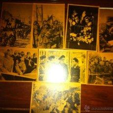 Militaria: 8 FOTO POSTAL DIVISION AZUL EN SEPIA. Lote 52030636