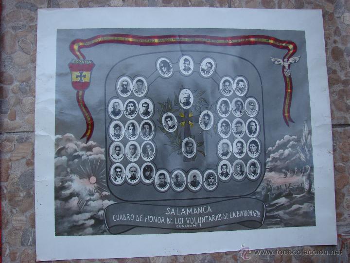 EXCEPCIONAL ORLA VOLUNTARIOS DE LA DIVISION AZUL DE SALAMANCA. AÑOS 40 (Militar - II Guerra Mundial)