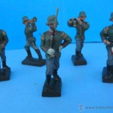 Militaria: MASSESOLDATEN DE LINEOL. ALEMANIA 1934-1939. SOLDADITOS ANTIGUOS. DESFILE DE BANDA MILITAR.. Lote 54837033