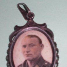 Militaria - Precioso retrato en porcelana y plata luftwaffe nazi tercer reich - 60885739