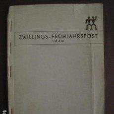 Militaria: NAZI - HENCKELS ZWILLINGSWERK-SOLINGEN-LIBRO FOTOS CUCHILLAS Y ACERO PARA EL FRENTE-VER FOTOS V-7422. Lote 66265234