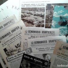 Militaria: 10 PUBLICACIONES DE PROPAGANDA DE GUERRA ALIADA. ESTADOS UNIDOS-REINO UNIDO, SEGUNDA GUERRA MUNDIAL. Lote 67676073
