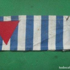 Militaria: MAGNIFICO BRAZALETE DE PRESO POLITICO EN CAMPO DE CONCENTRACION NAZI, AUTENTICO 2ª GUERRA MUNDIAL. Lote 75629839