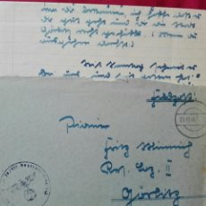 Militaria - Carta circulada en Alemania con correo militar 1944 matasellos nazí - 78386622