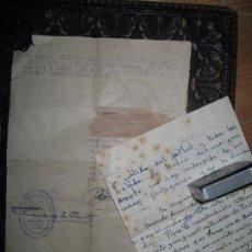 Militaria: II GUERRA MUNDIAL ALEMANIA CARTA Y DOCUMENTO SOLDADO FRANCISCO Y JAIME ALICANTE DIVISION AZUL 1942. Lote 79292173