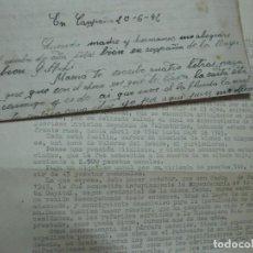 Militaria: DOCUMENTO Y CARTA DE CAIDO EN II GUERRA MUNDIAL ALEMANIA SOLDADO ESPAÑOL DIVISION AZUL 1942. Lote 91525465