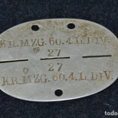 Militaria: PLACA NAZI - ORIGINAL. Lote 86685132