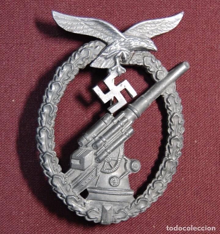 Militaria: PRECIOSA INSIGNIA ALEMANA DE LA ARTILLERIA ANTIAEREA.SEGUNDA GUERRA MUNDIAL. - Foto 2 - 94580903