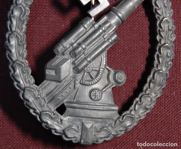 Militaria: PRECIOSA INSIGNIA ALEMANA DE LA ARTILLERIA ANTIAEREA.SEGUNDA GUERRA MUNDIAL. - Foto 4 - 94580903