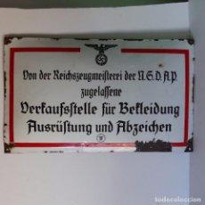 Militaria: CHAPA ESMALTADA DE LA NSDAP PARA VENTA DE EQUIPAMIENTO Y MEDALLAS. ALEMANIA, SEGUNDA GUERRA MUNDIAL.. Lote 94593167