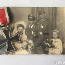 Militaria: LOTE CRUZ DE HIERRO DE BERG & NOLTE Y FOTO LUFTWAFFE.SEGUNDA GUERRA MUNDIAL.. Lote 84205112