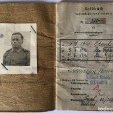Militaria: SOLDBUCH SANITARIO CRUZ MERITO MILITAR ESPADAS.TERCER REICH.SEGUNDA GUERRA MUNDIAL.. Lote 96210999