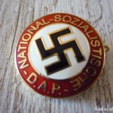 Militaria: PIN PARTIDO NAZI NATIONAL-SOZIALISTISCHE-D.A.P. EN ORO. Lote 96855171