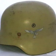 Militaria: CASCO DE LUFTWAFFE , TERCER REICH , NAZI ALEMANIA , FIRMADO INCREDIBLE CONDITION !!! MUY RARO. Lote 98093731