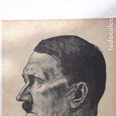 Militaria: LÁMINA ORIGINAL DER FÜHRER. ADOLF HITLER. GRABADO DE KARL MAHR. AÑO 1942.. Lote 103067727