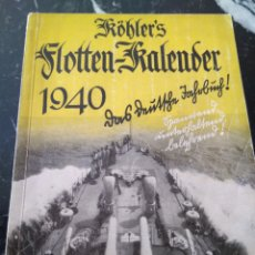 Militaria: CALENDARIO FLOTA MARINA 1940. Lote 107489700