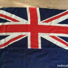 Militaria: PABELLÓN AZUL. BANDERA ORIGINAL DE ALGODÓN BRITÁNICA DE BUQUE,REINO UNIDO.SEGUNDA II GUERRA MUNDIAL.. Lote 110542815